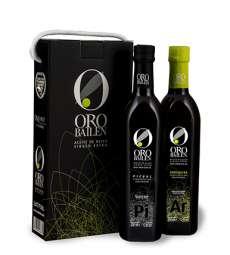 Aceite de oliva Oro Bailen.Estuche 2 botellas 750 ml.
