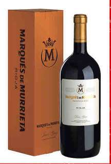 Vino tinto Marqués de Murrieta  en caja de cartón (Magnum)